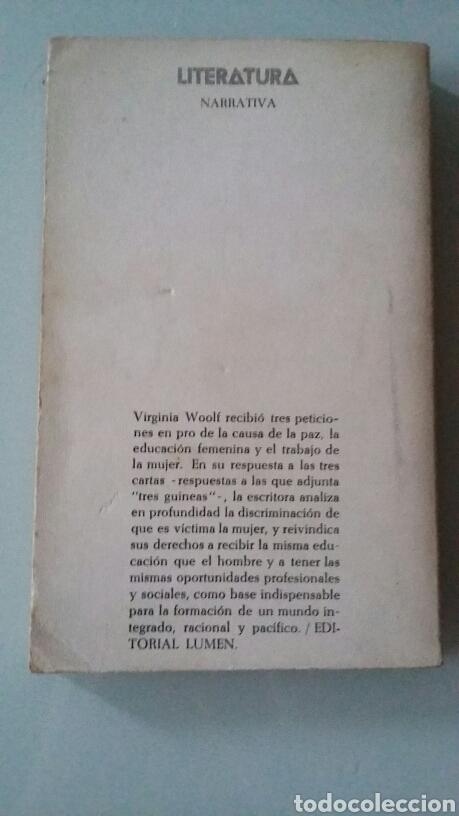 Libros de segunda mano: Tres Guineas. Virginia Woolf. 1980 - Foto 2 - 127863735