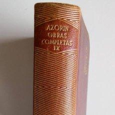 Libros de segunda mano: JOYA, AZORÍN, OBRAS COMPLETAS, TOMO IX. Lote 128049775