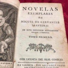 Libros de segunda mano: LIBRO NOVELAS EXEMPLARES DE MIGUEL DE CERVANTES AÑO 1783 - TOMO PRIMERO - LEER DESCRIPCION. Lote 128233611