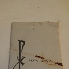 Libros de segunda mano: MISA COMUNITARIA, TEXTO OFICIAL, SANTIAGO 1965. Lote 128290735