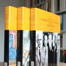 Libros de segunda mano: J.M.SOLÉ (DIRECTOR) - HISTÒRIA DE LA GENERALITAT DE CATALUNYA I ELS SEUS PRESIDENTS 3 TOMOS COMPLETA. Lote 128295375
