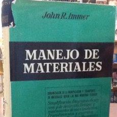 Libros de segunda mano: MANEJO DE MATERIALES - JOHN R. IMMER. Lote 128332399