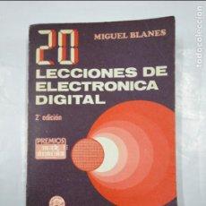 Libros de segunda mano: 20 LECCIONES DE ELECTRONICA DIGITAL. BLANES MONLLOR, MIGUEL. MARCOMBO BOIXAREU EDITORES. TDK348. Lote 128411419