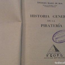 Libros de segunda mano: HISTORIA GENERAL DE LA PIRATERIA AEREA. Lote 128460299