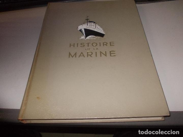 HISTOIRE DE LA MARINE, TOMO II. EN FRANCÉS, MUY ILUSTRADO. LIBRO DE GRANDES DIMENSIONES 39X30X3 CM. (Libros de Segunda Mano - Historia - Otros)