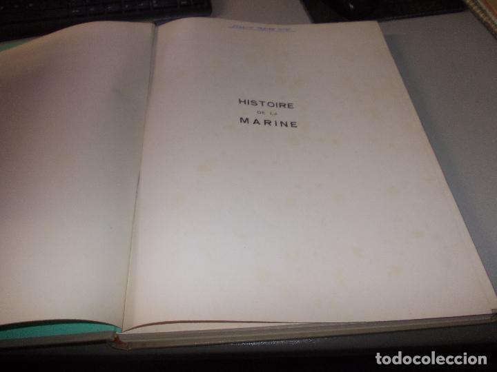 Libros de segunda mano: Histoire de la Marine, tomo II. en francés, muy ilustrado. Libro de grandes dimensiones 39x30x3 cm. - Foto 3 - 128657743