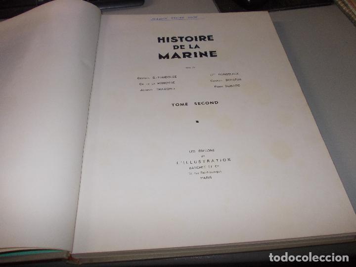 Libros de segunda mano: Histoire de la Marine, tomo II. en francés, muy ilustrado. Libro de grandes dimensiones 39x30x3 cm. - Foto 4 - 128657743