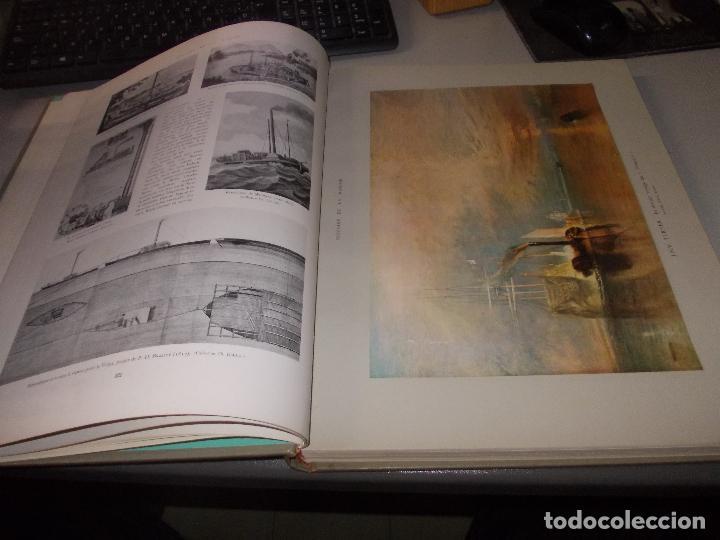 Libros de segunda mano: Histoire de la Marine, tomo II. en francés, muy ilustrado. Libro de grandes dimensiones 39x30x3 cm. - Foto 7 - 128657743