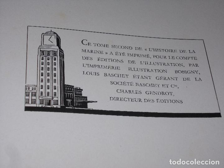 Libros de segunda mano: Histoire de la Marine, tomo II. en francés, muy ilustrado. Libro de grandes dimensiones 39x30x3 cm. - Foto 24 - 128657743