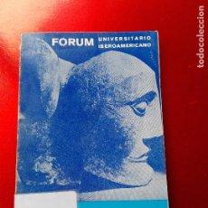 Libros de segunda mano: LIBRO-MESTIZAJE Y RACISMO EN IBEROAMERICA-FORUM UNIVERSITARIO IBEROAMERICANO-1967-ED.FORUM. Lote 128745691