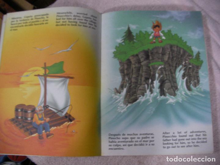 Libros de segunda mano: PINOCHO (TEXTO EN CASTELLANO E INGLES) - ENVIO INCLUIDO A ESPAÑA - Foto 2 - 128809107