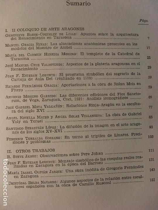 Libros de segunda mano: SEMINARIO DE ARTE ARAGONÉS XXXIV / 1981. Institución Fernando el Católico - Foto 2 - 128832223