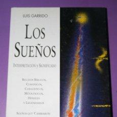 Libros de segunda mano: LOS SUEÑOS.LUIS GARRIDO.INTERPRETACION.SIGNIFICADO.LIBRO HOBBY.2002.SOÑAR.. Lote 129026535