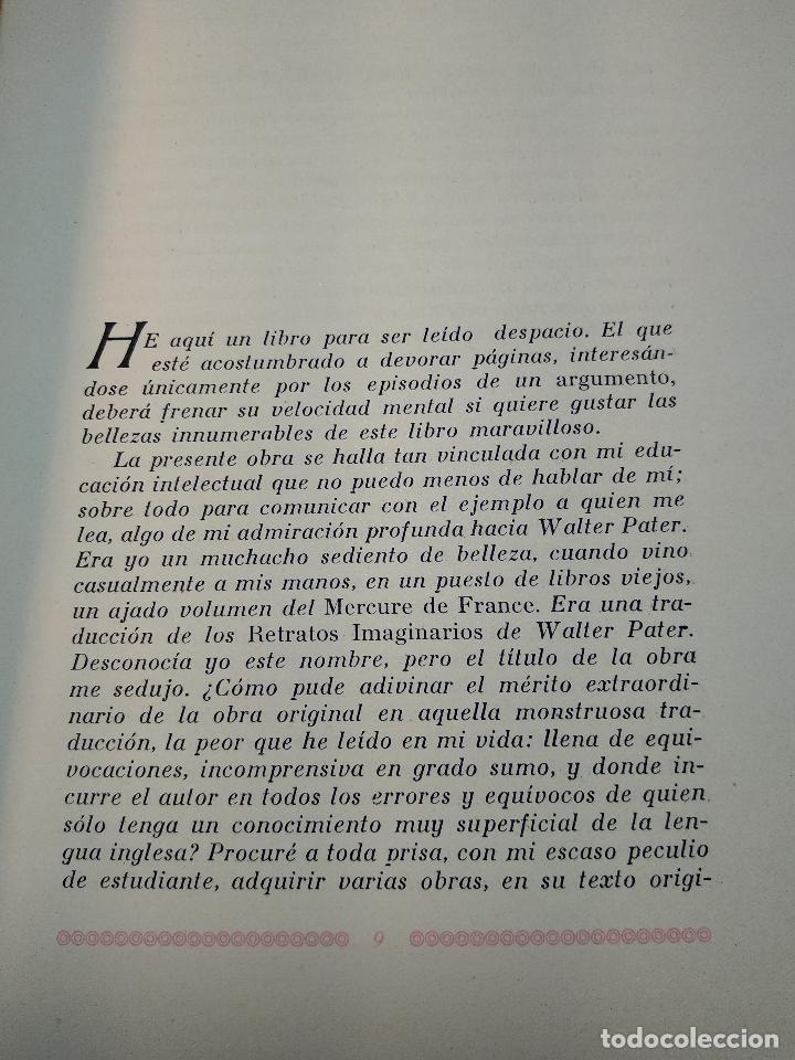 Libros de segunda mano: RETRATOS IMAGINARIOS - WALTER PATER - GRABADOS EN BOJ DE MANUEL BENET - EDIC. AYMA - BARCELONA -1942 - Foto 5 - 129255531