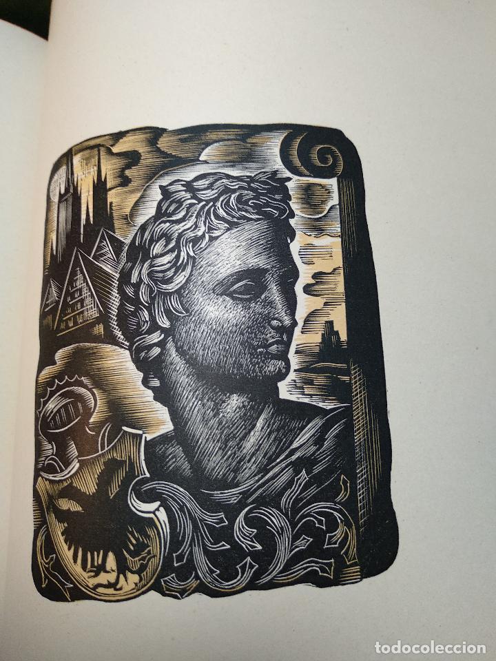 Libros de segunda mano: RETRATOS IMAGINARIOS - WALTER PATER - GRABADOS EN BOJ DE MANUEL BENET - EDIC. AYMA - BARCELONA -1942 - Foto 10 - 129255531