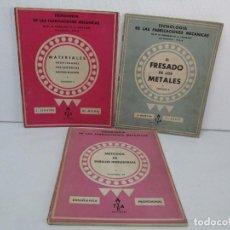 Libros de segunda mano: TECNOLOGIA DE LAS FABRICACIONES MECANICAS. A. CHEVALIER. EDICIONES TEA. FASCISCULO Nº 4-9-20.. Lote 129300063