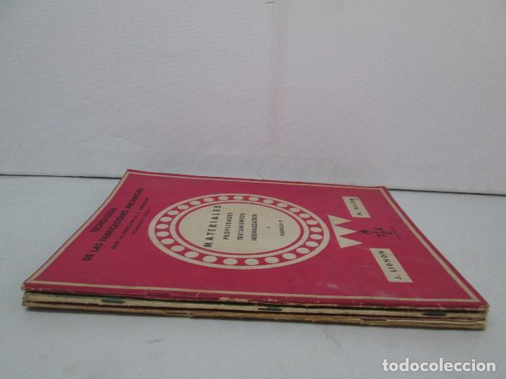 Libros de segunda mano: TECNOLOGIA DE LAS FABRICACIONES MECANICAS. A. CHEVALIER. EDICIONES TEA. FASCISCULO Nº 4-9-20. - Foto 2 - 129300063