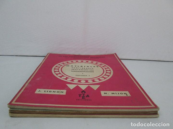 Libros de segunda mano: TECNOLOGIA DE LAS FABRICACIONES MECANICAS. A. CHEVALIER. EDICIONES TEA. FASCISCULO Nº 4-9-20. - Foto 3 - 129300063