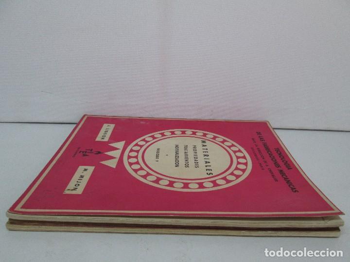 Libros de segunda mano: TECNOLOGIA DE LAS FABRICACIONES MECANICAS. A. CHEVALIER. EDICIONES TEA. FASCISCULO Nº 4-9-20. - Foto 4 - 129300063