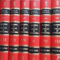 Libros de segunda mano: BLASONES Y LINAJES DE EUSKALERRIA COLECCIÓN COMPLETA 10 TOMOS NUEVA A ESTRENAR. Lote 129326446