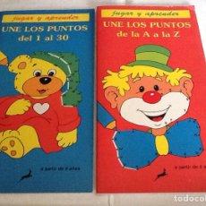 Libros de segunda mano: DOS CUADERNOS UNE LOS PUNTOS SERIE JUGAR Y APRENDER ED CENTRO EDITORIAL DE LECTORES. Lote 129343043