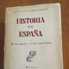Libri di seconda mano: HISTORIA DE ESPAÑA. DE LOS ORÍGENES A LA BAJA EDAD MEDIA. L. GARCÍA DE VALDEAVELLANO. 1ª ED. O. C.. Lote 129526623