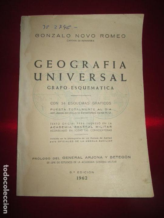 LIBRO-GEOGRAFÍA UNIVERSAL-GRAFO ESQUEMÁTICA-1962-5ªEDICIÓN-GONZALO NOVO ROMEO-VER FOTOS (Libros de Segunda Mano - Ciencias, Manuales y Oficios - Otros)