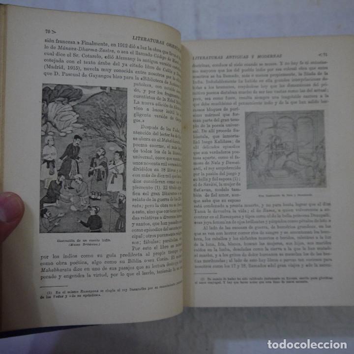 Libros de segunda mano: HISTORIA DE LAS LITERATURAS ANTIGUAS Y MODERNAS - RAMÓN D. PERES - Foto 5 - 129724071