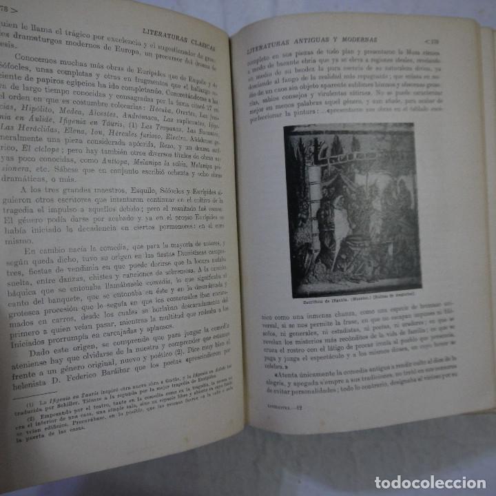 Libros de segunda mano: HISTORIA DE LAS LITERATURAS ANTIGUAS Y MODERNAS - RAMÓN D. PERES - Foto 7 - 129724071
