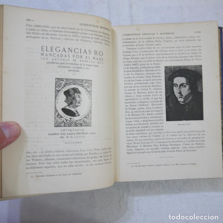 Libros de segunda mano: HISTORIA DE LAS LITERATURAS ANTIGUAS Y MODERNAS - RAMÓN D. PERES - Foto 8 - 129724071