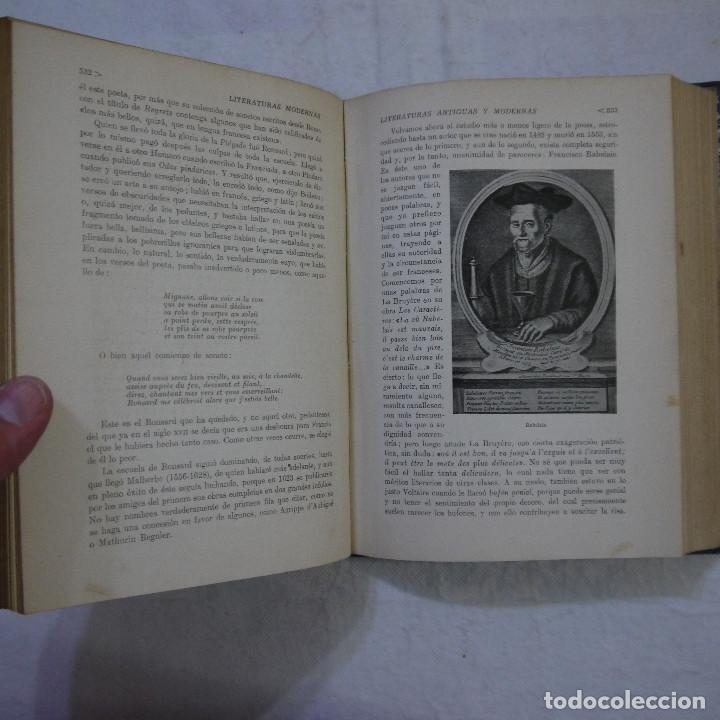 Libros de segunda mano: HISTORIA DE LAS LITERATURAS ANTIGUAS Y MODERNAS - RAMÓN D. PERES - Foto 9 - 129724071