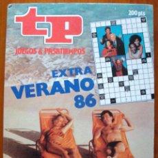 Libros de segunda mano: 2 REVISTA TP EXTRA 1986-87 FILMOTECA-CRUCIGRAMA-CÁBALA-JUEGO VISUAL-SOPA LETRAS-AUTODEFINIDO NUEVO. Lote 129724407