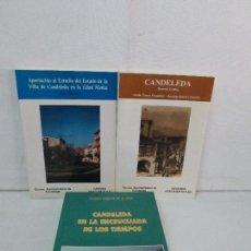 Libros de segunda mano: CANDELEDA EN LA ENCRUCIJADA DE LOS TIEMPOS. MEMORIA GRAFICA. APORTACION AL ESTUDIO... 3 LIBROS. Lote 129749555