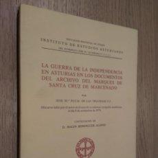Libros de segunda mano: LA GUERRA DE INDEPENDENCIA EN ASTURIAS EN LOS DOCUMENTOS DEL ARCHIVO DEL MARQUÉS DE SANTA CRUZ DE MA. Lote 129787431