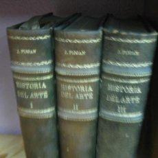 Libros de segunda mano: HISTORIA DEL ARTE. J. PIJOAN. 3 VOL. ENCUADERNADOS EN MEDIA PIEL CON DORADOS. SALVAT 1951.. Lote 130031043