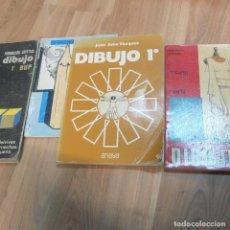 Libros de segunda mano: LOTE DE 4 LIBROS DE DIBUJO . Lote 130203083