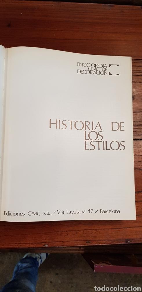 Libros de segunda mano: HISTORIA DE LOS ESTILOS - ENCICLOPEDIA CEAC DE LA DECORACION - Foto 14 - 130252820