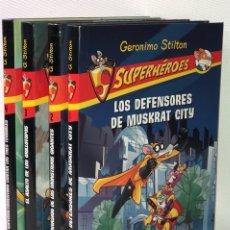 Libros de segunda mano: SUPERHÉROES •• GERONIMO STILTON •• ED. DESTINO. Lote 130275996