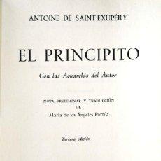 Libros de segunda mano: ANTOINE DE SAINT-EXUPÉRY. EL PRINCIPITO. MÉXICO, 1977. Lote 130378810