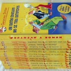 Libros de segunda mano: GERÓNIMO STILTON - HUMOR Y MISTERIO - LOTE DE 12 LIBROS - VER DESCRIPCIÓN. Lote 130482478