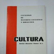 Libros de segunda mano: CATALOGO DE MATERIAL CIENTIFICO Y DIDACTICO. CULTURA EIMLER BASANTA HAASE. 1972. TDK351. Lote 130482926