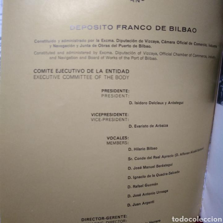 Libros de segunda mano: EL DEPOSITO FRANCO EN EL PUERTO DE BILBAO. EDITADO EN BILBAO. AÑO 1964. - Foto 3 - 130490632