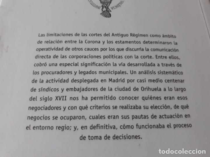 Libros de segunda mano: EL MUNICIPIO EN LA CORTE DE LOS AUSTRIAS. Síndicos y embajadas en Orihuela BERNABÉ GIL, David - Foto 13 - 165313350