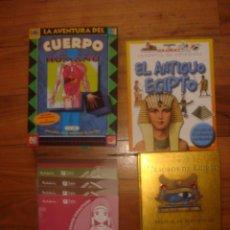 Libros de segunda mano: ESPLÉNDIDO LOTE PUBLICACIONES DIDÁCTICAS JUVENILES EGIPTO, CUERPO HUMANO,ÍBEROS. Lote 130599002