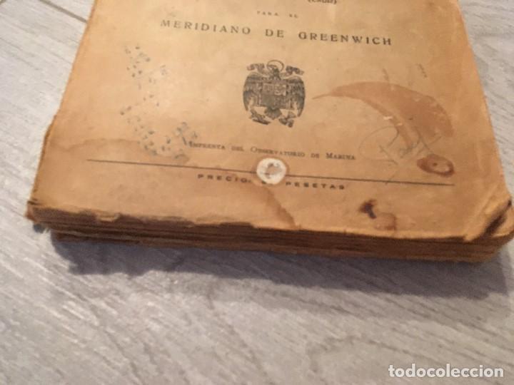 Libros de segunda mano: ALMANAQUE NÁUTICO 1961 INSTITUTO OBSERVATORIO DE LA MARINA SAN FERNANDO - Foto 3 - 130631130