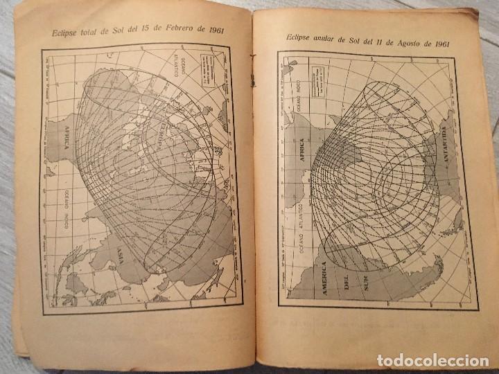 Libros de segunda mano: ALMANAQUE NÁUTICO 1961 INSTITUTO OBSERVATORIO DE LA MARINA SAN FERNANDO - Foto 9 - 130631130
