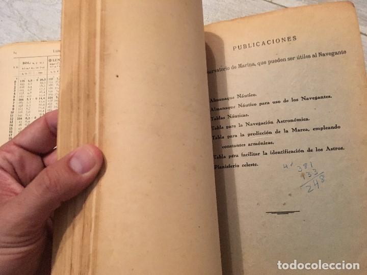 Libros de segunda mano: ALMANAQUE NÁUTICO 1961 INSTITUTO OBSERVATORIO DE LA MARINA SAN FERNANDO - Foto 11 - 130631130