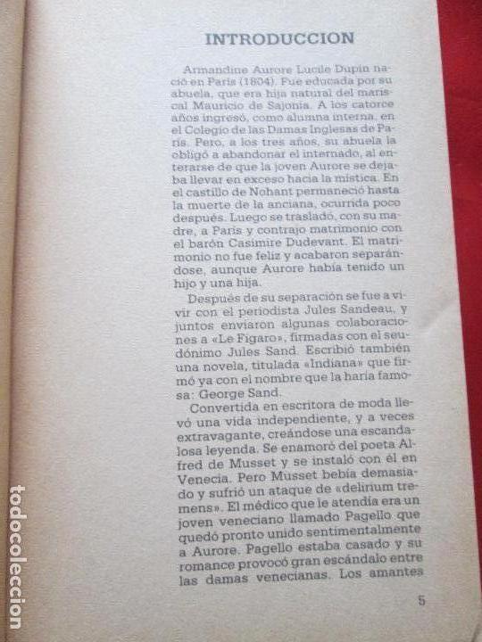 Libros de segunda mano: LIBRO-ELLA Y ÉL-GEORGE SAND-PALABRAS DE MUJER-LIBROS HOGAR Y MODA-1985-VER FOTOS - Foto 6 - 130639950
