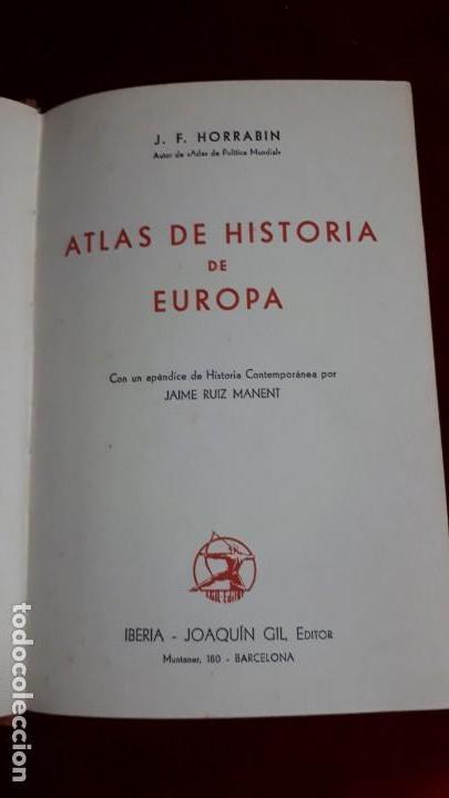 Libros de segunda mano: ATLAS DE HISTORIA DE EUROPA. 1941 - Foto 2 - 130671688