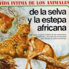Libros de segunda mano: VIDA ÍNTIMA DE LOS ANIMALES DE LA SELVA Y ESTEPA AFRICANA (AURIGA, 1978). Lote 130796443